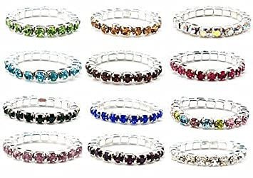 d1985aa4d3 12pcs (12 Colors) Elastic Crystal Toe Ring Mixed Color Wholesale Lot Body  Jewelry Pack
