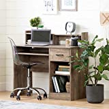 South Shore 12447 Axess Desk with Keyboard Tray-Weathered Oak