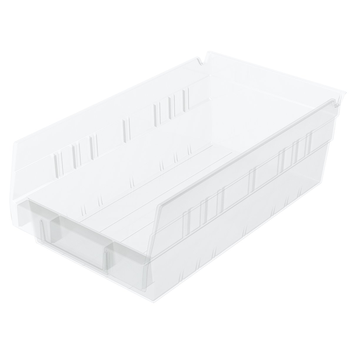 Akro-Mils 30130 12-Inch by 6-Inch by 4-Inch Clear Plastic Nesting Shelf Bin Box, 12-Pack