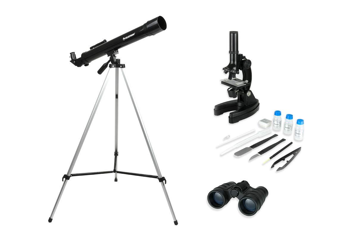 Celestron International Telescope Microscope & Binocular Science Kit, CSN22010