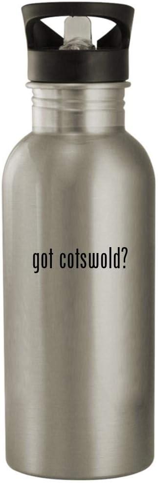 got cotswold? - 20oz Stainless Steel Water Bottle, Silver