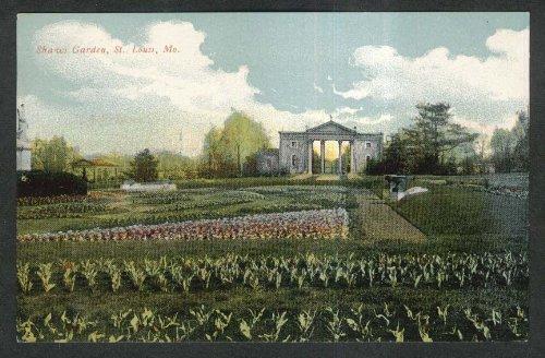 Shaws Louis Garden - Shaws Garden St Louis MO postcard 1910s