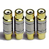 video switcher mixer - HTTX Female to Female RCA Connector A/V Joiner Video and Audio Coupler Metal Adapter Component Premium Gold Plated (4-Pack)
