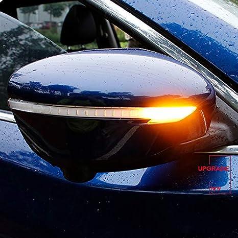 High Flying Dynamische Spiegel Blinker Blinkerleuchten 2 Stück Für Qashqai J11 B J 2015 2019 X Trail X Trail T32 B J 2014 2019 Schwarz Auto