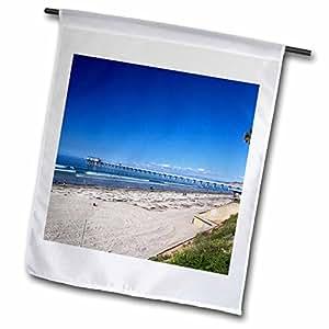 Danita Delimont–Costa diseño de la bandera de Estados Unidos, California, San Diego. Scripps Pier, la Jolla.–Banderas