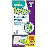 Kandoo Flushable Sensitive Toddler Wipes - Unscented - 350 ct