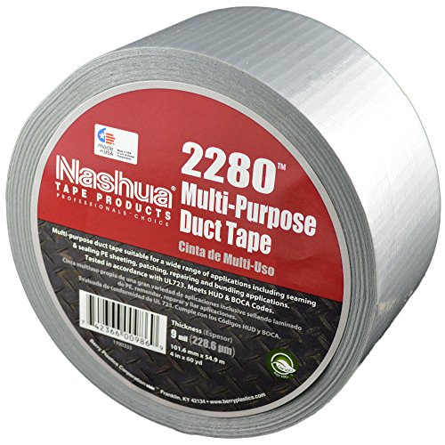NASHUA 2280 Silver Duct Tape, Bulk Pack, Full Case, 72mm x 55M, 16 Rolls by Nashua (Image #4)