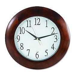 Universal 10414 Round Wood Clock, 12 3/4, Cherry