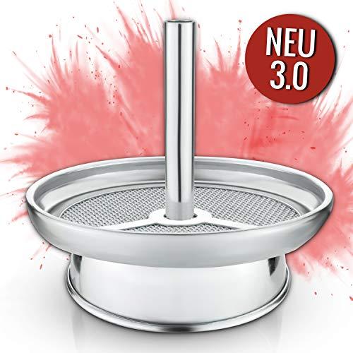 Little Dragon® Shisha Kaminaufsatz Silber – Universal aus V2A Edelstahl – Aufsatz mit Kamineffekt für Natur Kohle…