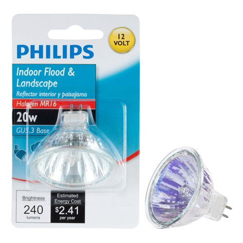 Philips 419317 20-Watt MR16 Landscape and Indoor Flood Light Halogen Light Bulb (Philips Led Lighting)