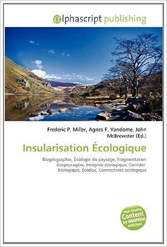 Livres Insularisation Cologique pdf