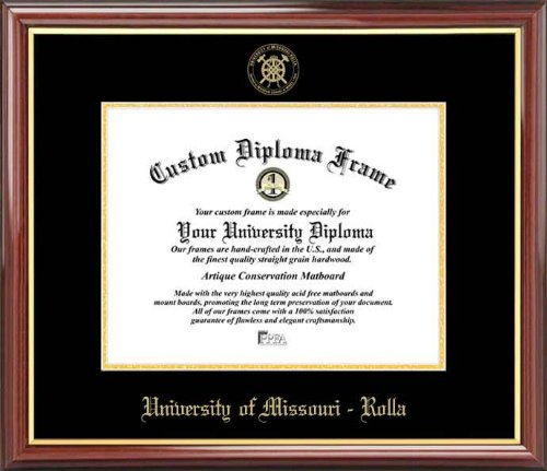 (Laminated Visuals University of Missouri-Rolla Miners - Embossed Seal - Mahogany Gold Trim - Diploma Frame)