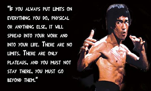 """Bruce Lee (Quotes) Get Motivated's Poster 12 x 18 """""""