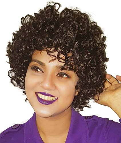 BuLaDou  Fashion Natural Short Synthetic Curly Wigs for Women , Costume Cosplay Wig (2#) (Medusa Sexy Costume)