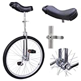 "GHP Aluminum Rim Manganese Steel Frame & Bearing 24""x1.75"" Wheel Silver Unicycle"