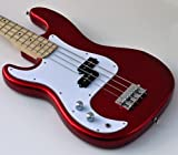 : NEW LEFTY FIRE RED LEFT HANDED ELECTRIC P BASS GUITAR