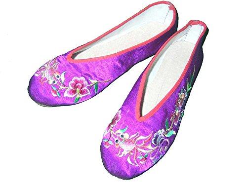 Chino Elegante 146 Zapatos A Y Mano De Mujeres Hechos Oriental Estilo Bordados P6wq01wvA