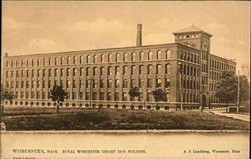 Royal Worcester Antiques (Royal Worcester Corset Co.'s Building Worcester, Massachusetts Original Vintage Postcard)