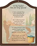 Cheap Rikki Knight to My Stepdad You are Very Special – Rustic Fishing Design Touching 8×10 Poem Plaque with Arch Top