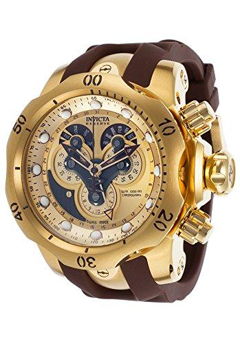 Invicta Men's 14464 Venom Analog Display Swiss Quartz Brown Watch (Watches Women Invicta Reserve)