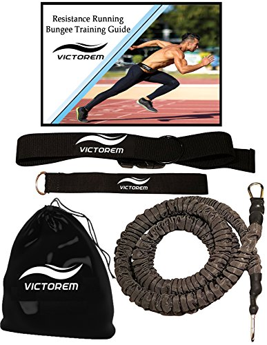 Victorem Strength 80 Lb Resistance Running Training Bungee Band (Waist) & Workout...
