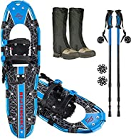 """Newtendency 25""""/30"""" Terrian Lightweight Snowshoes+Adults Men Women Youth Trail Snow Shoes+Waterproof"""