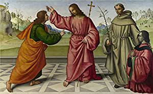 The high quality polyster Canvas of oil painting 'Giovanni Battista da Faenza The Incredulity of Saint Thomas ' ,size: 10 x 16 inch / 25 x 41 cm ,this Amazing Art Decorative Canvas Prints is fit for Bedroom gallery art and Home artwork and Gifts