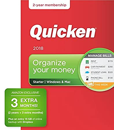 Quicken Starter 2018 - Personal Finance & Budgeting Software [Amazon Exclusive 27-month membership]