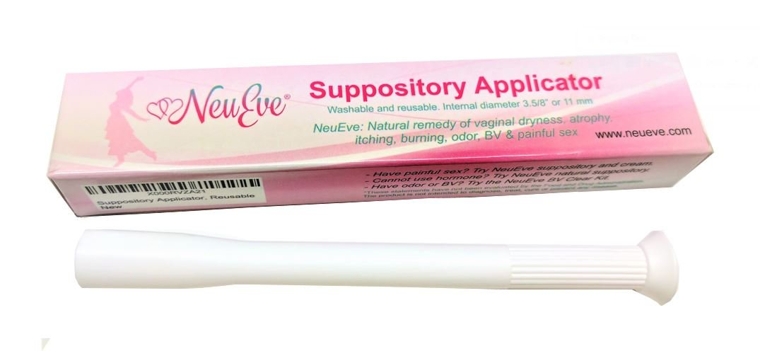 "NeuEve® Vaginal Suppository Applicator, Reusable (1/Pack) – 3 5/8"" Internal  Diameter – Fits Most Brands,"