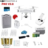 DJI Phantom 4 PRO V2.0 Quadcopter Drone with 1-inch 20MP 4K Camera KIT, with Must Have Accessories and Range Extender