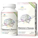 Magnesium L Threonate – 100 Vegan Capsules – Non-GMO UltraPure Highly Absorptive & Bioavailable Magnesium Supplement – Supports Cognition, Memory, Sleep – Formulated Without Laxative Properties Review