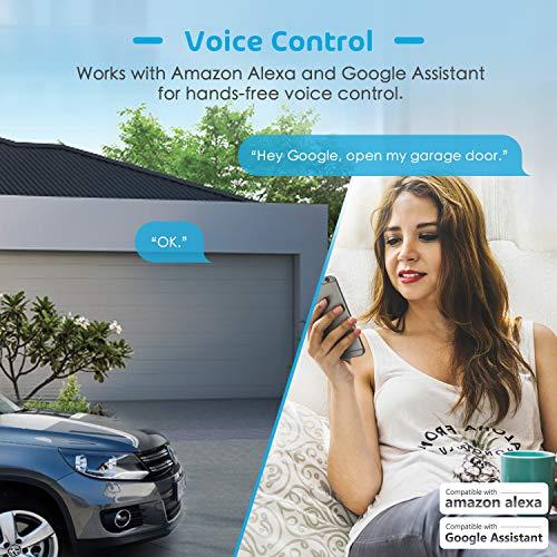 meross Smart Wi-Fi Garage Door Opener Remote, APP Control, - Import