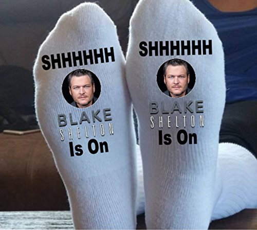 Blake Shelton, Socks, Customized, We Can Print Almost Anything On These Socks, Country, Rock, Hip Hop, You Name It, by Taylored Custom Coatings