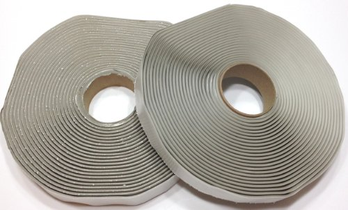 "Colormetrics Gray Putty Tape / Butyl Tape 1/8"" x 3/4"" x 30' (2-Pack)"