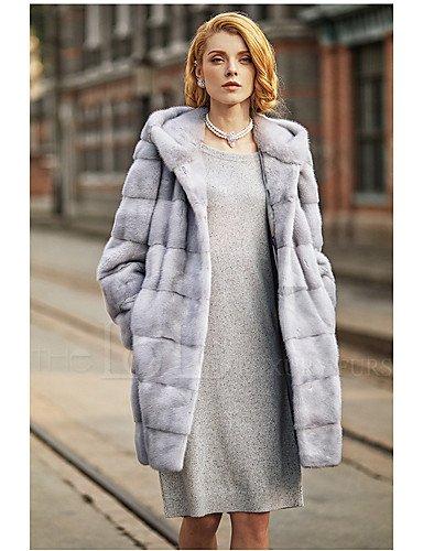 Erica Mujer sólida Fácil activo salir LÄSSIG/alltäglich pelo abrigo, con capucha invierno estándar