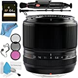 Fujifilm 60mm f/2.4 XF Macro Lens 16240767 + 52mm 3 Piece Filter Kit + 64GB SDXC Card + Lens Pen Cleaner + Fibercloth + Lens Capkeeper + 70in Monopod + Deluxe Cleaning Kit Bundle