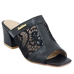 Women's Voile Mesh Peep Toe Vacations Mid Heel Sandal Slippers