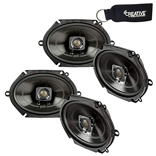 Polk Audio - Two Pairs of DB572 5x7 Coaxial Speakers - Marine and Powersports Certification