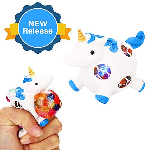 Squishy Unicorn Toys Anti-Stress Ball-Tiny Unicorn with Horn-For Girls Boys Kids Toddlers-BL