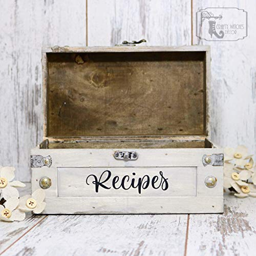 Recipe Box, Recipe Holder, Housewarming Gift, Wood Recipe Box, Mother's Day Gift, Kitchen Decor, Wedding Gift, Recipe Box Vintage, Mom Gift ()