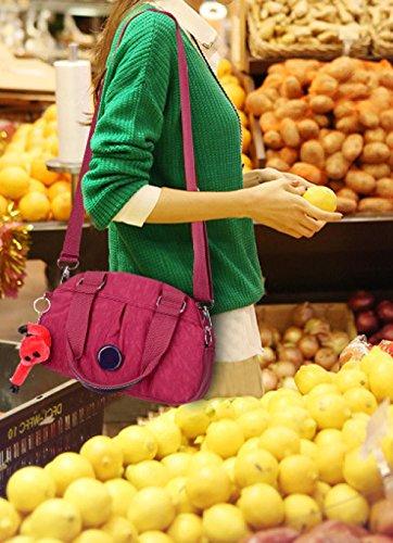 Frauen Jahrgang Leinwand Schulter Aktentasche Messenger Handtasche Side Die Universelle Einsatz Tasche ,I-30cm*14cm*20cm