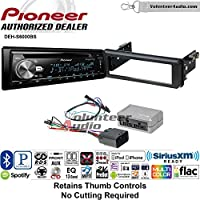 Volunteer Audio Pioneer DEH-S6000BS Double Din Radio Install Kit with Bluetooth, Sirius XM, CD Player Fits 1998-2013 Harley Davidson Electra Glide, Road Glide, Street Glide