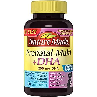 Nature Made Prenatal Plus DHA Softgels, 200 mg