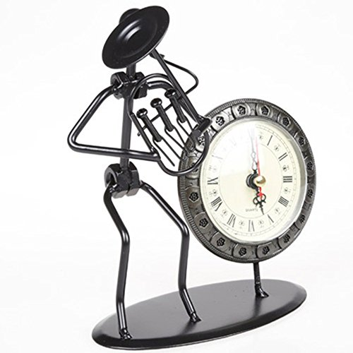 Full classic retro office desk metal decoration vintage home decor shabby chic metal table clock crafts