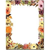 Fall Floral Letterhead Laser & Inkjet Printer Paper, 100 pack