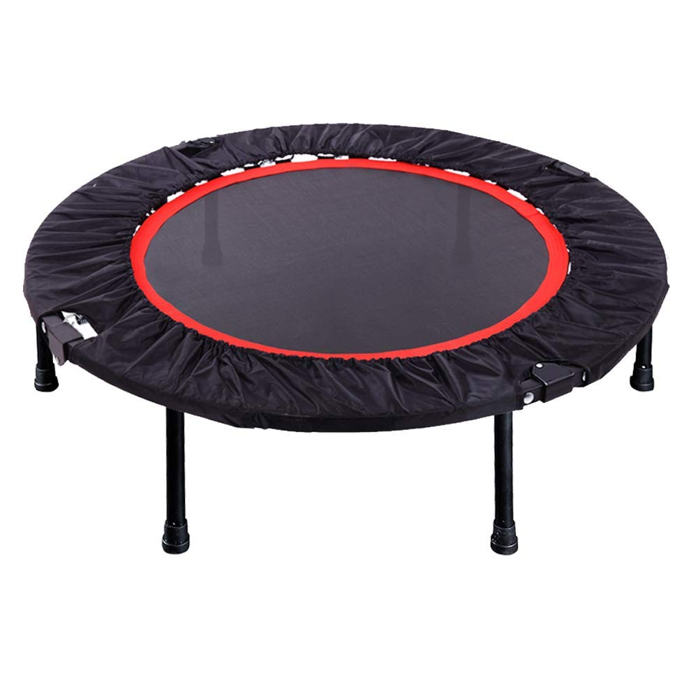 Foldable Trampoline, 40-Inch Fitness rebounder, Strong Steel Spring Enhanced Flexibility and Endurance, Safe and Reliable for Adults and Kids Exercise, Black and Red