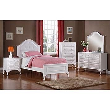 Elements Jenna 5 Piece Twin Kids Bedroom Set in White