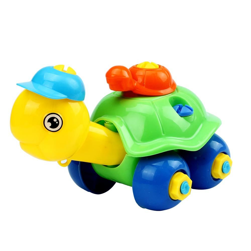 Kasenxet Baby Toy Car Colorful Funny Turtle Disassembly Educational Toys for Children Kids(C)