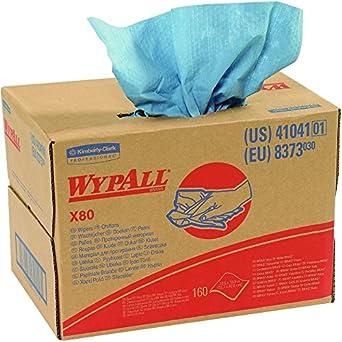 Barco ahora suministro snkw101 Wypall X80 limpiaparabrisas Shop Pro caja dispensadora, azul (Pack de