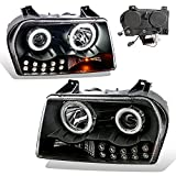 SPPC Projector Headlights L.E.D Black (CCFL Halo) For Chrysler 300 - (Pair)